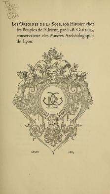 """Cover of """"Les origines de la soie"""""""