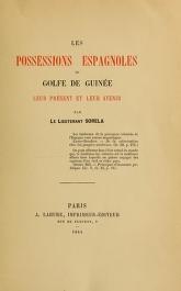 """Cover of """"Les possessions Espagnoles du Golfe de Guinee"""""""