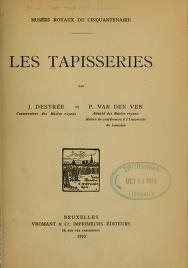 """Cover of """"Les tapisseries"""""""