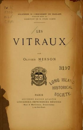 """Cover of """"Les vitraux"""""""