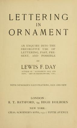 "Cover of ""Lettering in ornament"""