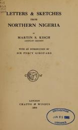 """Cover of """"Letters & sketches from Northern Nigeria /"""""""
