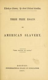 """Cover of """"Liberty or slavery; the great national question"""""""