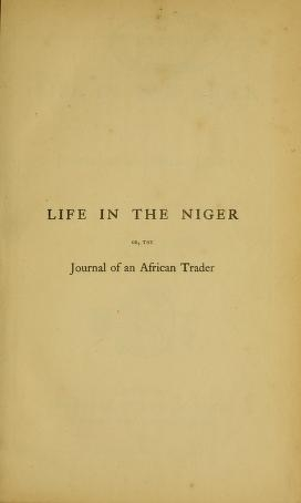 """Cover of """"Life in the Niger"""""""