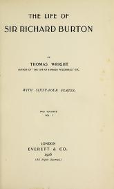 Cover of The life of Sir Richard Burton
