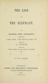 """Cover of """"The lion and the elephant"""""""