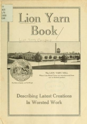 """Cover of """"Lion yarn book"""""""
