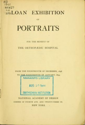 "Cover of ""Loan exhibition of portraits for the benefit of the Orthopaedic Hospital"""