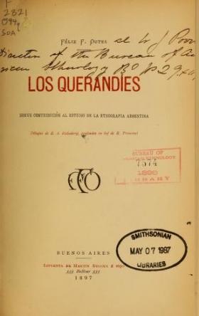 """Cover of """"Los Querandíes"""""""