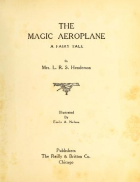 "Cover of ""The magic aeroplane"""