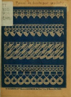 """Cover of """"Manuel de dessins pour crochet"""""""