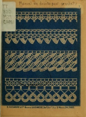"Cover of ""Manuel de dessins pour crochet"""