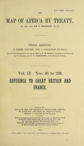 Cover of The map of Africa by treaty