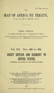"""Cover of """"The map of Africa by treaty v. 3"""""""