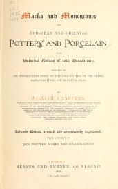 """Cover of """"Marks and monograms on European and Oriental pottery and porcelain"""""""