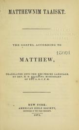 """Cover of """"Matthewnim taaiskt ="""""""
