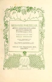 "Cover of ""Meissner Porzellan"""