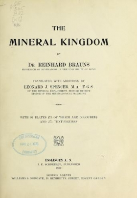 "Cover of ""The mineral kingdom"""