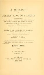 Cover of A mission to Gelele, king of Dahome