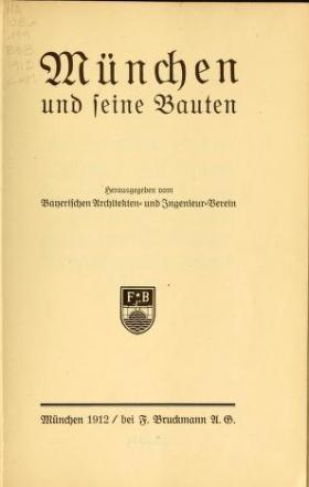 """Cover of """"München und seine Bauten"""""""