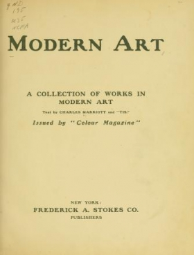"Cover of ""Modern art"""