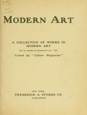 """Cover of """"Modern art"""""""