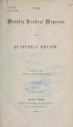 Cover of Monthly nautical magazine, and quarterly review