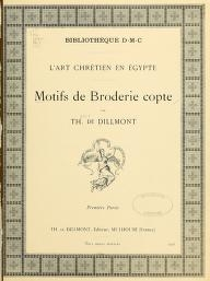 "Cover of ""Motifs de broderie copte"""