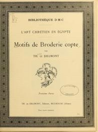 "Cover of ""Motifs de broderie copte"""