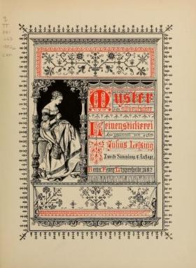 """Cover of """"Muster altdeutscher Leinenstickerei"""""""