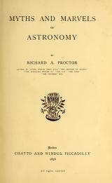 "Cover of ""Myths and marvels of astronomy /"""