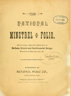 "Cover of ""The National minstrel folio"""