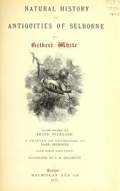 """Cover of """"Natural history and antiquities of Selborne /"""""""