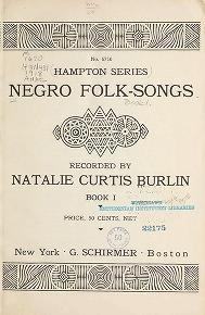 """Cover of """"Negro folk-songs"""""""