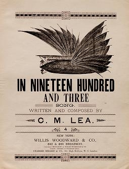 """Cover of """"In nineteen hundred and three"""""""