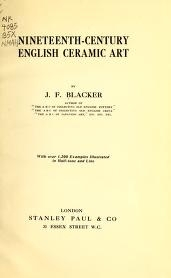 "Cover of ""Nineteenth-century English ceramic art"""