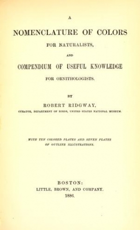 """Cover of """"A nomenclature of colors for naturalists : and compendium of useful knowledge for ornithologists /"""""""