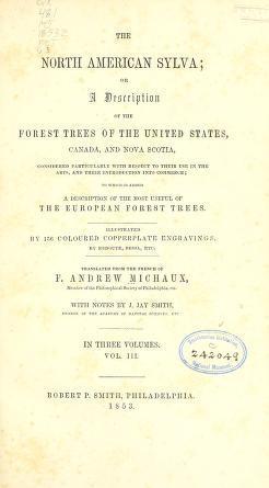 Cover of The North American sylva