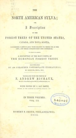"Cover of ""The North American sylva"""