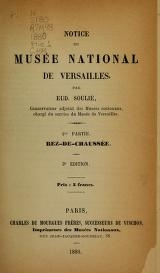 "Cover of ""Notice du Musée national de Versailles /"""