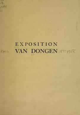 """Cover of """"Oeuvres nouvelles de van Dongen"""""""