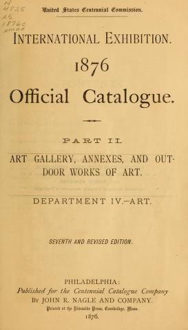 """Cover of """"Official catalogue"""""""