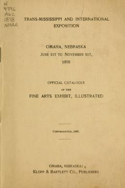 "Cover of ""Official catalogue of the fine arts exhibit, illustrated"""