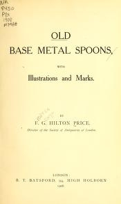 """Cover of """"Old base metal spoons"""""""