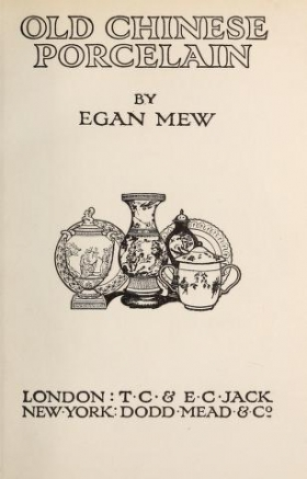"Cover of ""Old Chinese porcelain"""