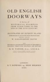 "Cover of ""Old English doorways"""
