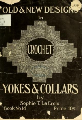 """Cover of """"Old and new designs in crochet work"""""""