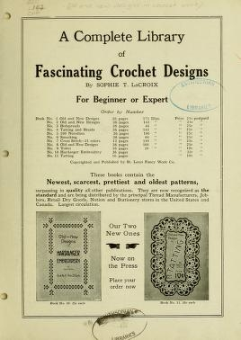 """Cover of """"Old and new designs in crochet work /"""""""
