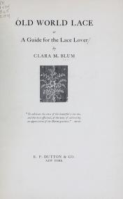 "Cover of ""Old world lace"""