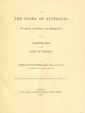 "Cover of ""On the flora of Australia : its origin, affinities, and distribution : being an introductory essay to the flora of Tasmania /"""